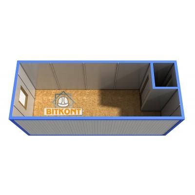 Блок контейнер с тамбуром утепленный
