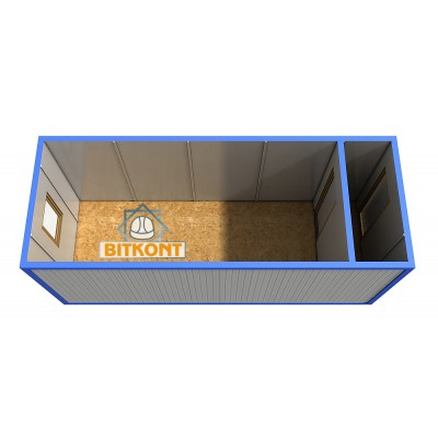 Блок контейнер БКТ02 с тамбуром и утеплением
